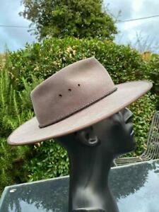 Australian Akubra Cattleman Pure Fur Felt Bush Hat, Size 61 cm
