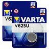 2 x Varta V625U batteries Alkaline 1.5V LR9 4626 PX625A 625A Button Cell Key Fob