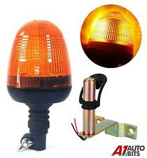 Allarme Lampeggiante LED Ambra Faro & Supporto Trattore Agricolo Veicoli #C