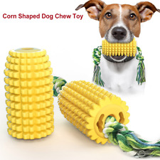 Dog Chew Toys Corn Molar Stick with Rope Corn Indestructible Teething Cleaning