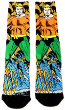 DC COMICS AQUAMAN TRIDENT SUBLIMATED ALL OVER PRINT MENS PREMIUM CREW SOCKS TUBE