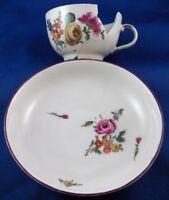 Antique 18thC Ludwigsburg Floral Saucer Porcelain Porzellan Untertasse German