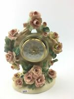 "Vintage Capodimonte Clock ""Roses Of Romance Clock"" -3313"