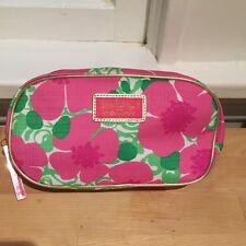 Lilly Pulitzer for Estee Lauder Pink Floral Print Toiletry Case Bag Makeup Pouch