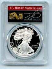 2020 W $1 Proof Silver Eagle PCGS PR70DCAM First Day Issue FDOI Cleveland Arrows