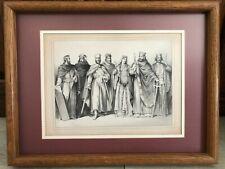 """Eugene Lejeune Etching Print, Framed, 12"""" x 9"""" (Image), 17"""" x 13"""" (Frame)"""
