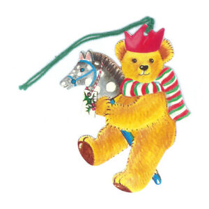 Pack of 5 Courtier Teddy Bear with Hobby Horse Gift Tags Ref 636se21
