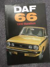 DAF 66 1300 Marathon Saloon Coupe & Estate orig 1973 UK Mkt Sales Brochure