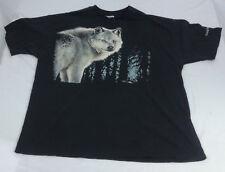Vintage 1990 Earth Friendly Single Stitch Wolf Graphic Tshirt Size XL