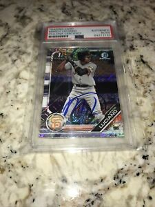 Marco Luciano Autographed Card 1st Bowman Chrome Mega San Francisco Giants PSA
