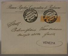 STORIA POSTALE RSI PACCO POSTALE 50 CENT USATO COME ORDINARIO 1944 UDINE #SP568