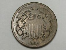 1868 US Two Cent Piece Coin. 2¢.  #7