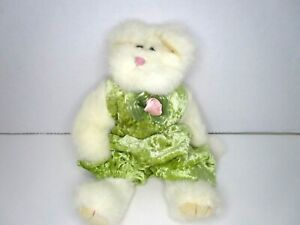 TY Beanie Babies Attic Treasures Jointed Cat Kitten Green One-Piece Outfit 1993
