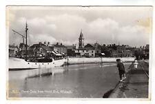Nene Quay - Wisbech Real Photo Postcard 1957