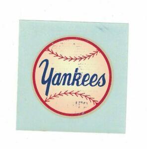 1950's 60's New York Yankees Baseball Allied Sporteam Decal