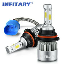 2 PCS HB1 9004 LED Car Headlights Auto Headlamps 8000LM 6500K Hi/Lo Beam Bulbs
