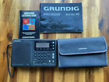 Grundig World Receiver Yacht Boy 400 With Case Listening Guide & Manual