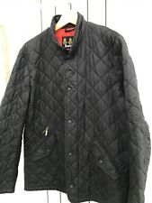 Barbour Mens Black Flyweight Chelsea Quilt Jacket, Vibrant Red Lining  - Size M