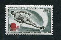 Timbre neuf FRANCE TB** YT n° 1395 : SKI NAUTIQUE à VICHY  - 1963