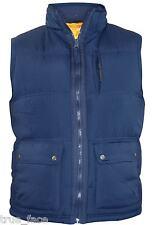 Men's Heavy Padded Lined Gilet Collar Full Zip Sleeveless Coat S Navy