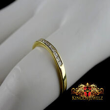 LADIES WOMEN'S 10K  GOLD GENUINE PRICES CUT DIAMOND WEDDING ENGAGMENT BAND RING