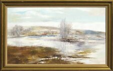 "R Bolton Smith ""White Washed"" Original Oil Painting, winter snow, MAKE OFFER!"