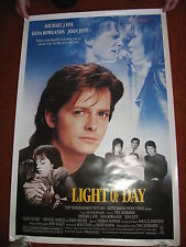 LIGHT OF DAY original MOVIE POSTER >ROLLED 1987 >1980's Joan Jett Michael J. Fox