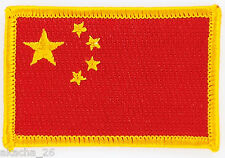 PATCH ECUSSON BRODE DRAPEAU CHINE INSIGNE THERMOCOLLANT NEUF FLAG PATCHE