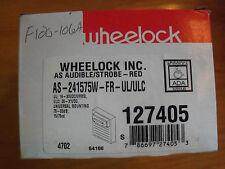 WHEELOCK AS AUDIBLE/STROBE - RED 241575W-FR-UL/ULC; 127405 - NEW
