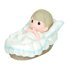 Precious Moments, Baptized In His Name, Boy, Bisque Porcelain Figurine, 143012