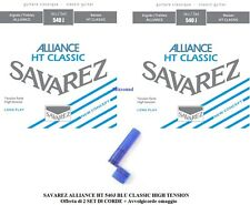 SAVAREZ ALLIANCE HT 540J BLU 2 SET DI CORDE CHITARRA CLASSICA HIGH TENSION