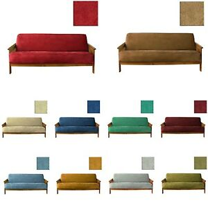 Full Size Soft Microfiber Suede Woven Futon Cover Slipcover Fit 6~8 or 8~10 inch
