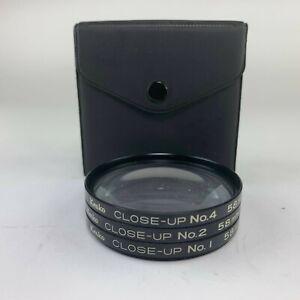 Kenko 58mm Close-Up Macro +1 +2 +3 Camera Lens Filter Set with Case