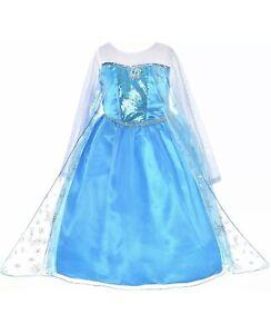 Brand New - Girls Blue Princess Dress/Costume/Party - Princess Elsa/Anna 3-9