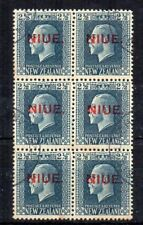 More details for new zealand - niue 1920 2 1/2d nz opt fu cds block of 6