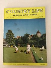 COUNTRY LIFE MAGAZINE SUMMER IN  BRITAIN NUMBER APRIL 27 1972