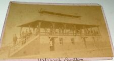 Rare Antique Victorian American Landscape, Wildwood Pavilion Cabinet Photo! US!