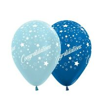 Party Supplies Graduation Congratulations Stars Metallic Blue Balloons Pk10