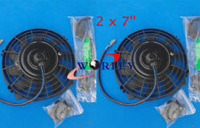 2PCS 7'' inch 12V volt Electric Cooling Fan Thermo Fan + Mounting kits