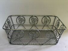 Silver Chrome Metal Basket