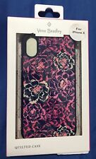 Brand New Vera Bradly Quilted Case for Apple iPhone X - Pink Floral