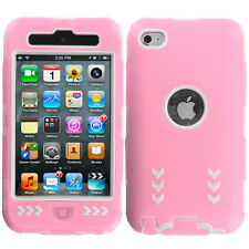 For iPod Touch 4th Gen 4G Hybrid Arrows Case Cover Accessory Pink