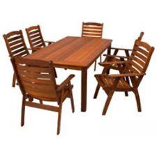 NEW Merbau Hardwood Rectangle Dining Setting Outdoor 5 - 7 Seater