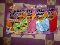 4 of It's Academic One Size Fits All Pattern/Solid Book Cover  Stretchy New #45