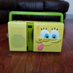 Spongebob 2005 Portable Radio/CD Player Model SB220 All Works!