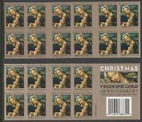 Christmas Holiday Virgin & Child Booklet of 20 Forever Stamps Scott 4815b