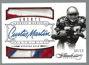 2014 Curtis Martin Panini Flawless Ruby Auto Autograph Patch 6/15 Patriots