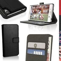 Cuir PU Etui Housse Portefeuille pour Sony Xperia M4 Aqua Flip Case Cover + Film