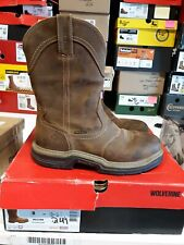 "Men's Wolverine 10"" Anthem Wellington Waterproof Boots 8 Ew Free Shipping #248"