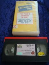 VHS.RED ROCK WEST.BLOCKBUSTER VIDEO EX RENTAL YELLOW STORE SLEEVE.VIDEO SHOP.